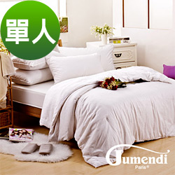 喬曼帝Jumendi-溫柔宣言 鑽石級單人手工純長纖蠶絲被2.4kg