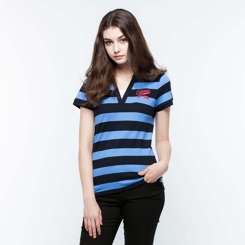 Hang Ten - 女裝 - 假兩件POLO衫 - 深藍