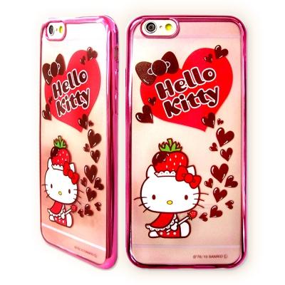 Hello Kitty iPhone 6/6s 4.7吋電鍍彩繪軟式手機殼(草莓...