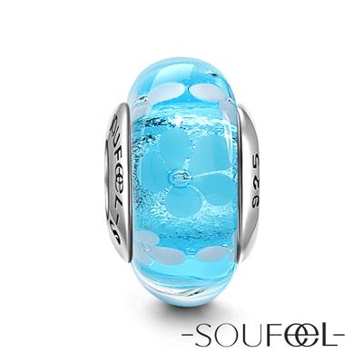 SOUFEEL索菲爾 925純銀珠飾 穆拉諾 鏡花水月 琉璃珠