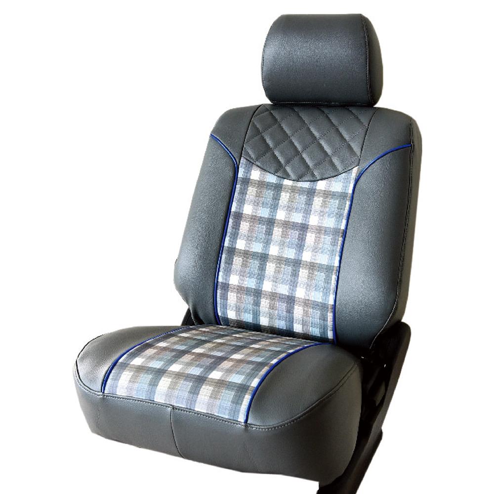【葵花】量身訂做-汽車椅套-日式合成皮-格紋配色D款休旅車-6-8人座款1+2+3排