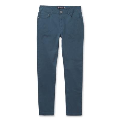 Hang Ten-男裝-完美修身破斜紋色褲-淺藍