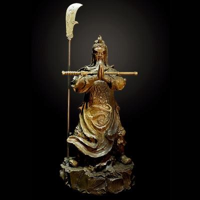 子問老師 限量原作銅雕~護法擎 伽藍菩薩(關公)