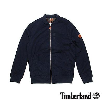 Timberland 男款暗藍色Stratham棉質飛行夾克
