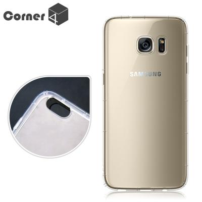 Corner4 Samsung Galaxy S7 edge 透明防摔手機空壓軟...