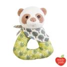 美國 Apple Park 有機棉手搖鈴啃咬玩具禮盒 - 綠葉貓熊