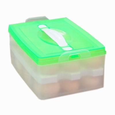 iSFun 野餐居家 雙層手提雞蛋收納盒 24顆
