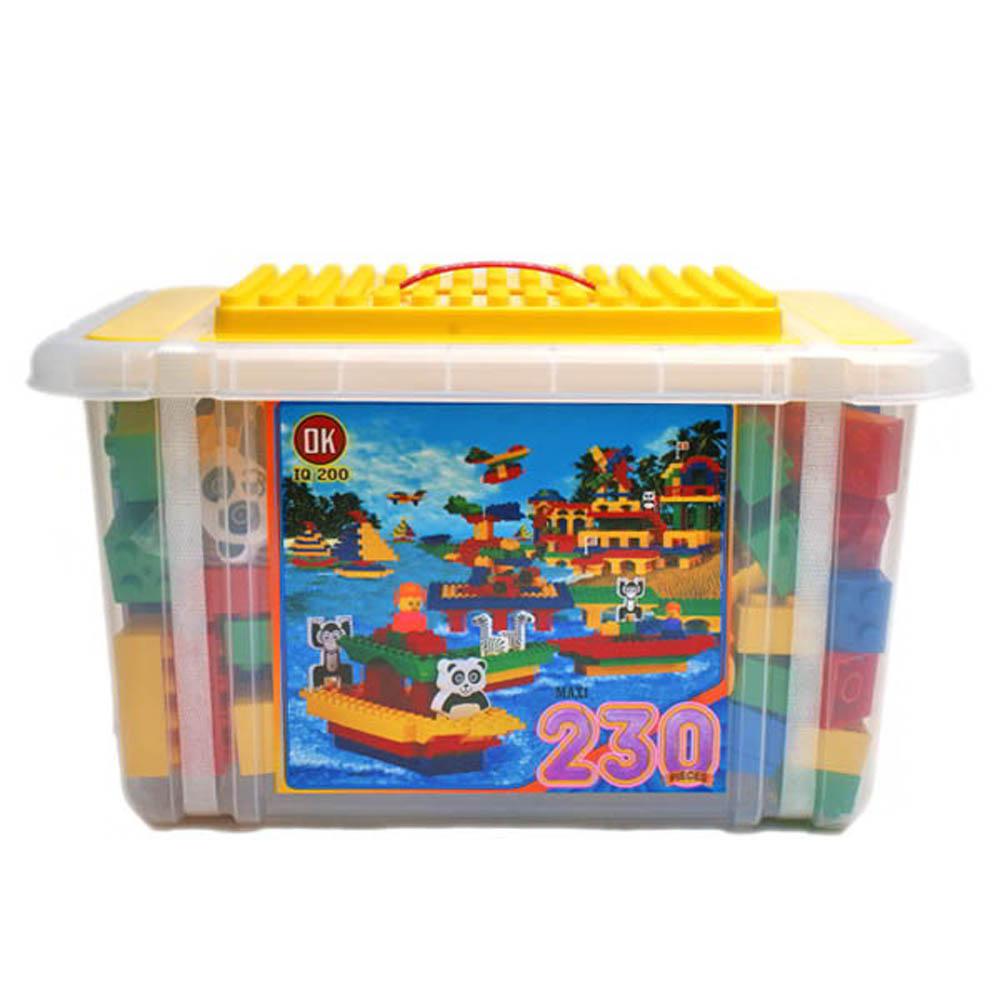 【Amuzinc】OK我高積木/OK233 大顆粒積木/收納箱230片裝