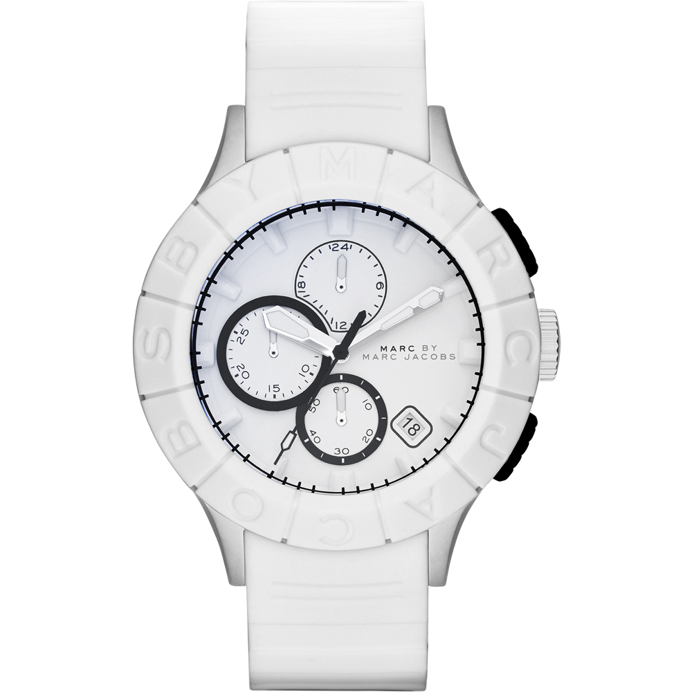 Marc by Marc Jacobs Buzz 極限運動計時腕錶-白/44mm
