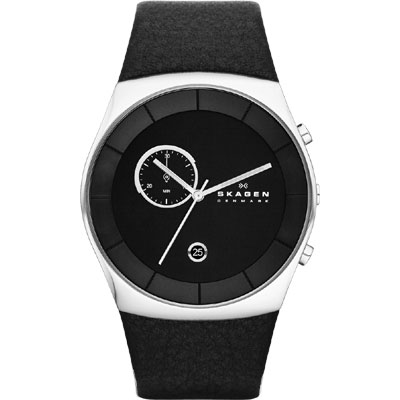 SKAGEN 經典系列 都會紳士計時腕錶-黑/42mm