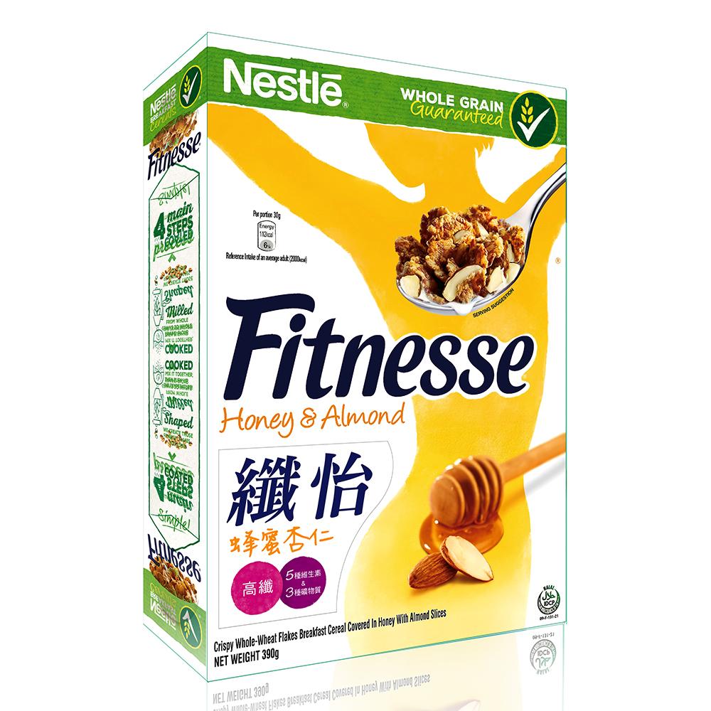雀巢 纖怡FITNESSE蜂蜜杏仁穀類早餐(390g)