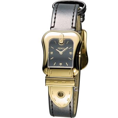 FENDI B.Fendi 完美時尚腕錶-黑x金/黑面/24x32mm