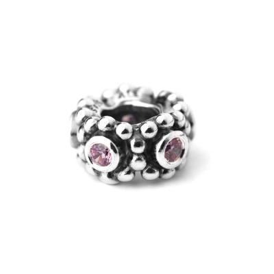 Pandora 潘朵拉 隔圈-粉紅鋯石鑲珠墜