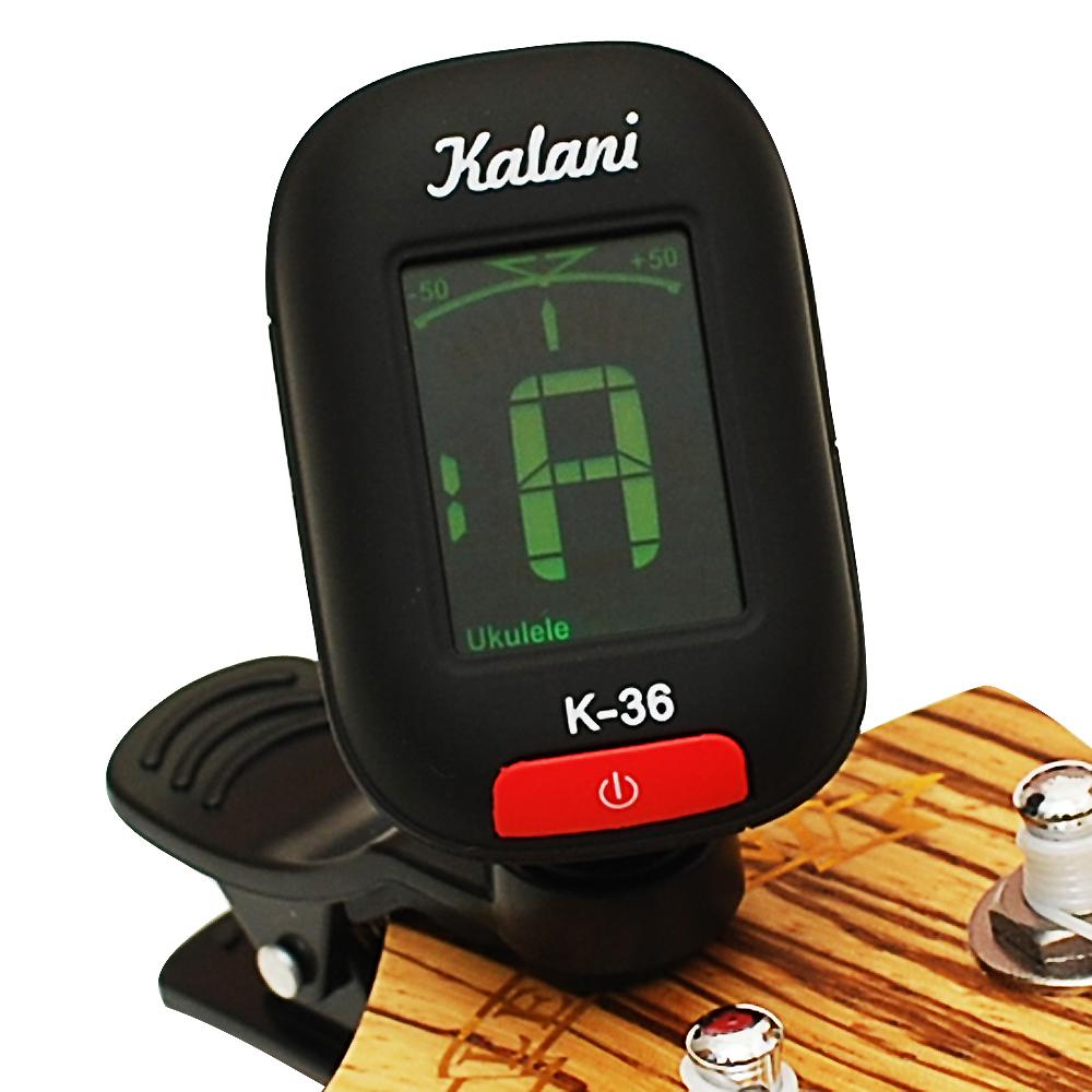 Kalani 烏克麗麗/吉他 5合1雙色冷光調音器(黑色)+加贈 PICK