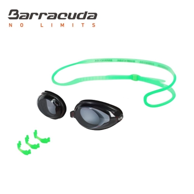 美國巴洛酷達Barracuda成人近視泳鏡-綠色頭帶#2195