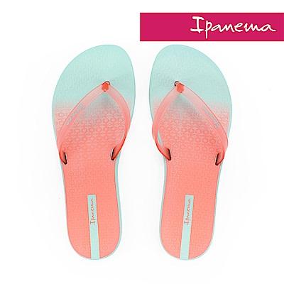 IPANEMA 繽紛渲染夾腳拖鞋-湖水藍珊瑚粉
