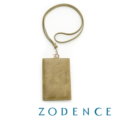 ZODENCE-土耳其牛皮名片證件套-橄欖綠