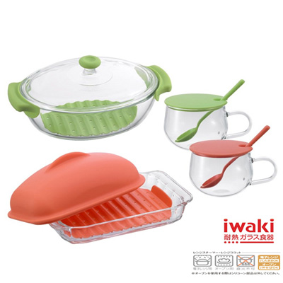 【iwaki】玻璃調理用具組(4入)