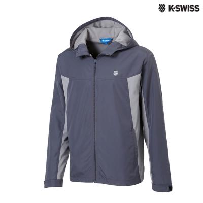 K-Swiss Polar Fleece JKT刷毛風衣外套-男-灰