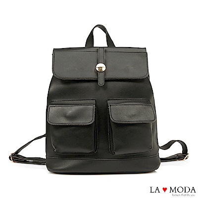 La Moda 熱銷不敗多種背法大容量肩背斜背後背包(黑)