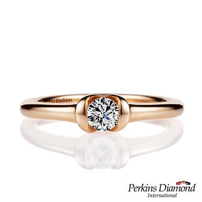 PERKINS 伯金仕 - infinity玫瑰金系列  0 . 20 克拉鑽石戒指