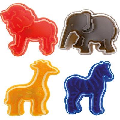IBILI 餅乾推壓模4件(動物園)