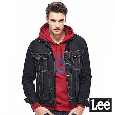 Lee 素面牛仔外套-男款-深藍