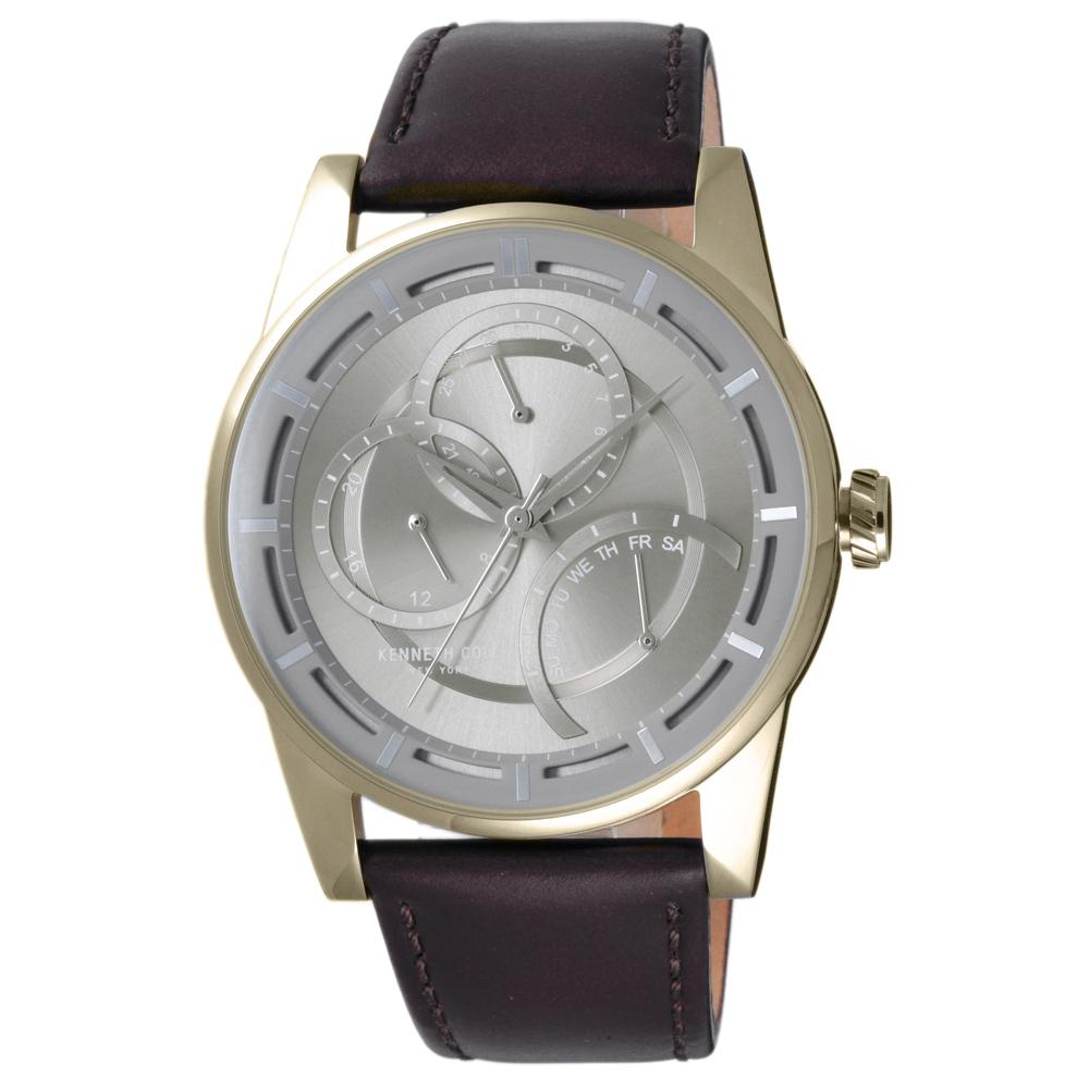 Kenneth Cole 月蝕幻象時尚三眼腕錶-KC50119001-44mm