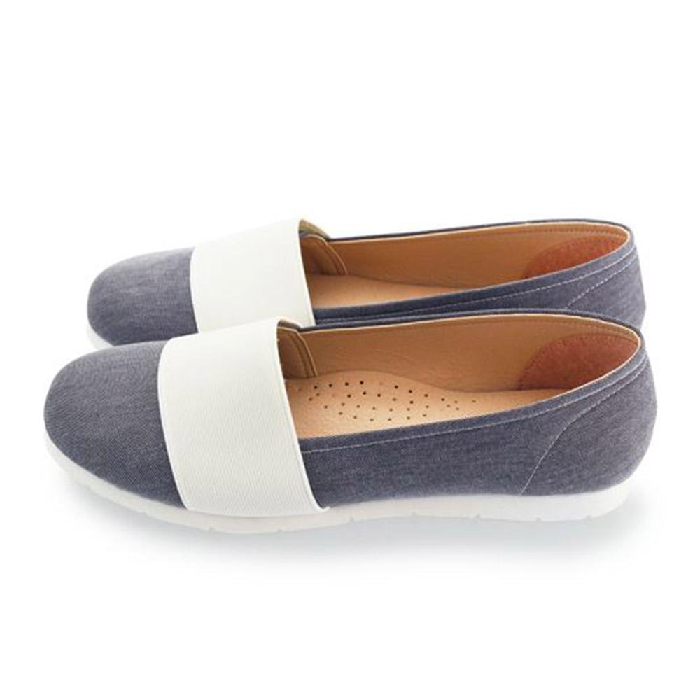 FUFA  MIT  寬帶牛仔舒適便鞋 (FE57) 灰色