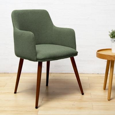 H&D Lesiure栗雪北歐風休閑布單椅/餐椅-綠色