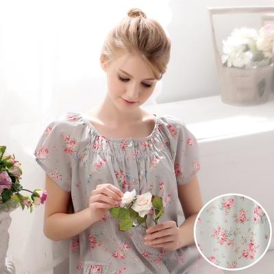 羅絲美睡衣 - 玫瑰心語短袖褲裝睡衣(繽紛綠)