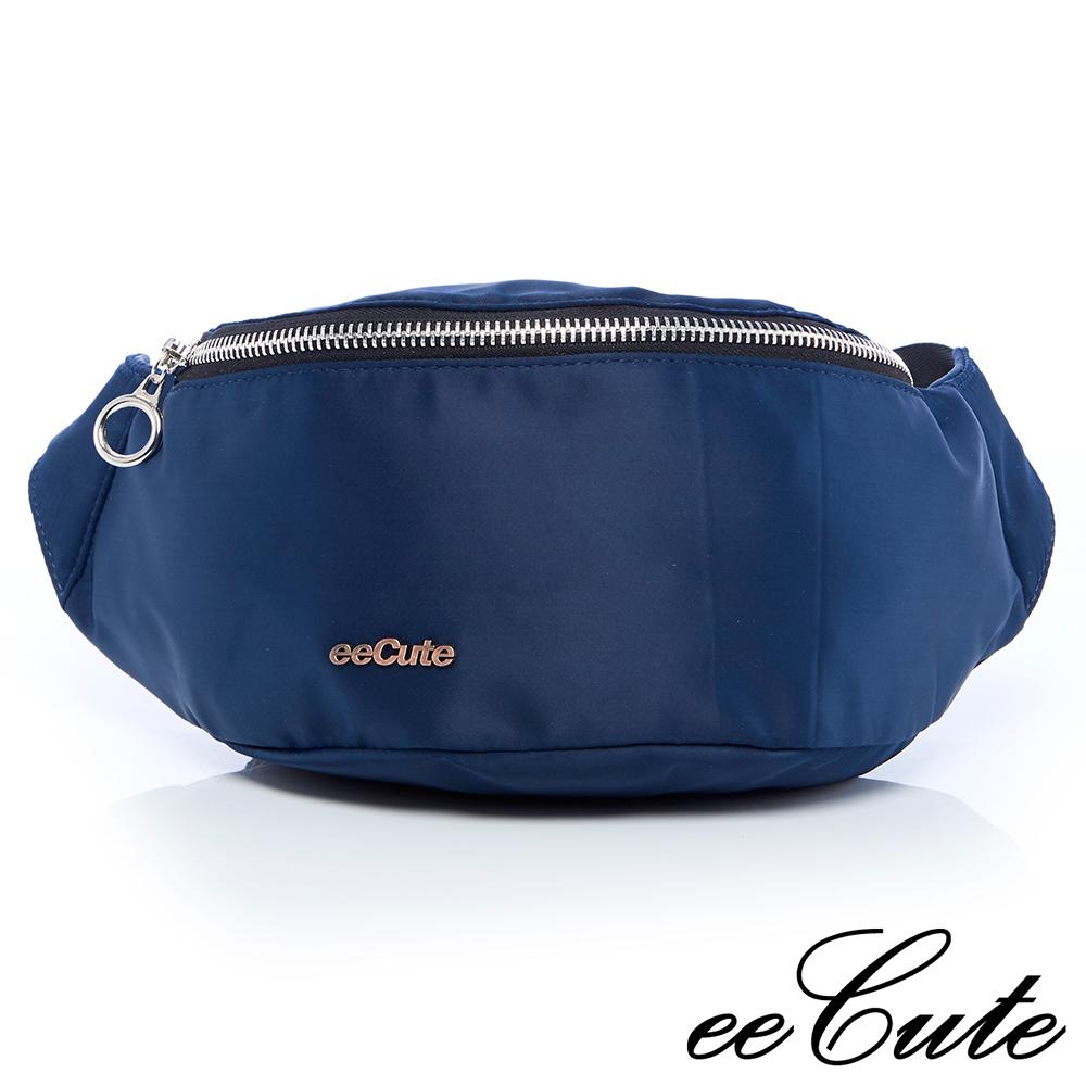 eeCute 輕量尼龍隨身包(可當腰包/斜背包)(經典藍)EEEG020-NV