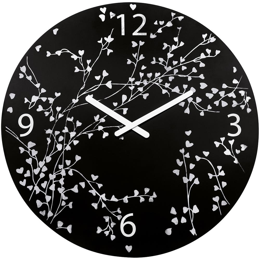 KOZIOL 愛情樹壁面時鐘-黑/45cm