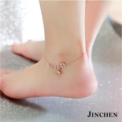 JINCHEN 白鋼錢幣腳鍊
