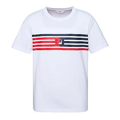 FILA #東京企劃 純棉圓領T恤-白1TES-1408-WT