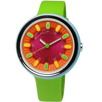 APPETIME SMOOTHIE 維他命蔬果冰沙夜光腕錶-熱能源-桃紅 /38mm