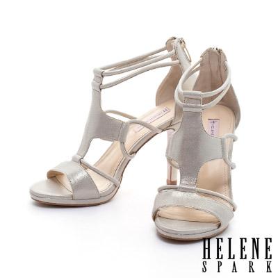 涼鞋-HEHENE-SPARK-十字性感鏤空全真皮