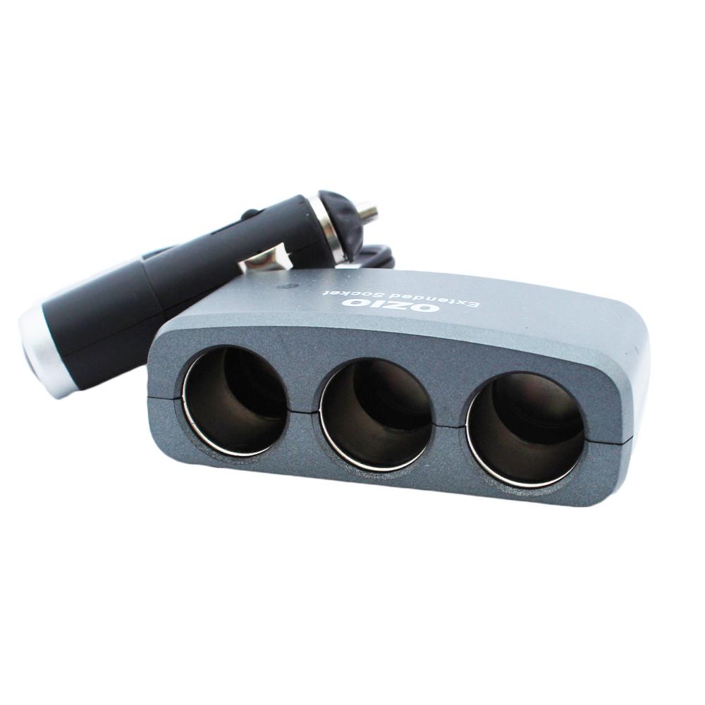 [快]OZIO車用三孔電源擴充器