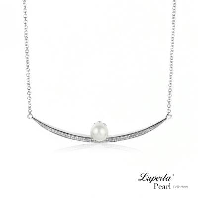 大東山珠寶 淡水珍珠純銀晶鑽墬飾 屬於妳的溫柔時光