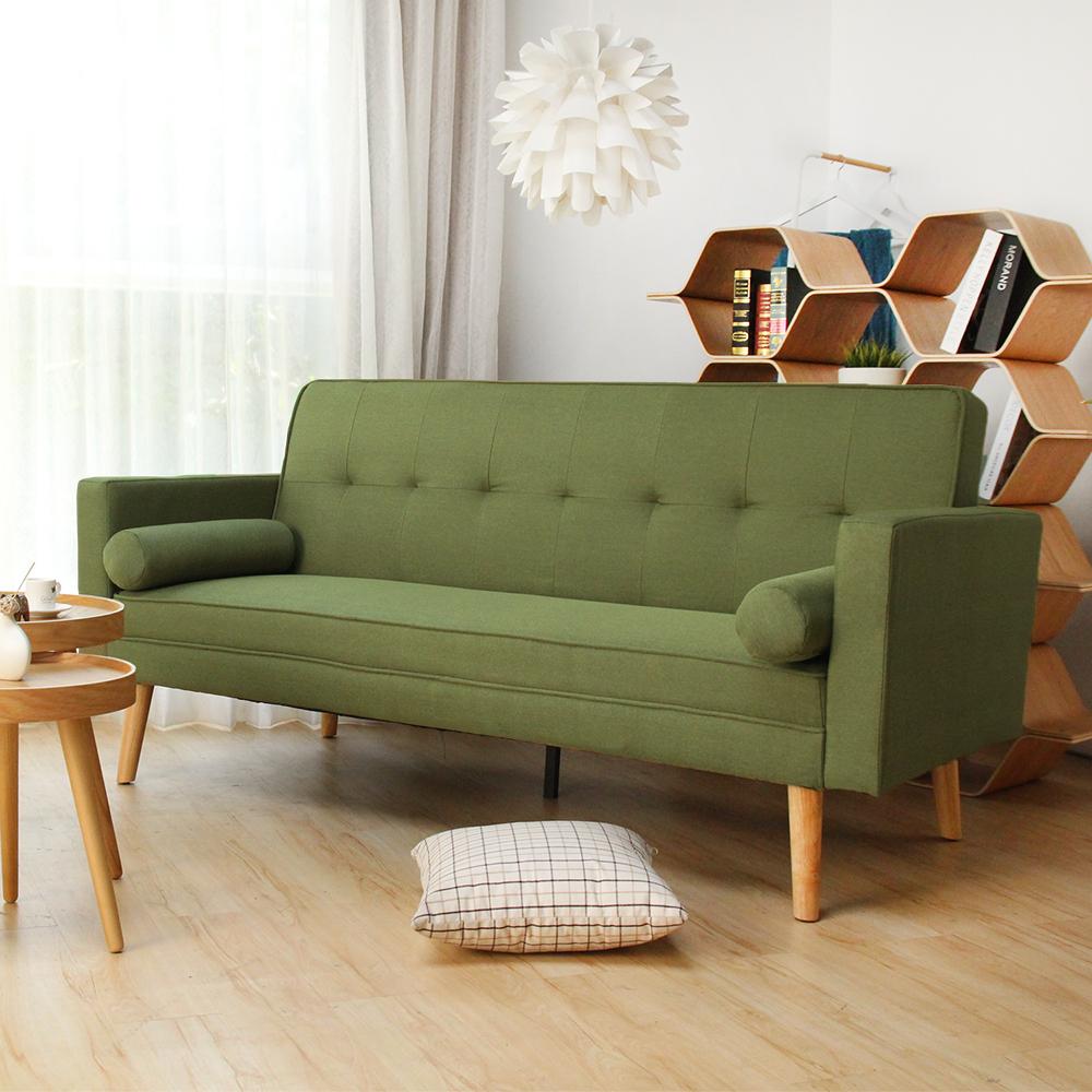 H&D 法蘭和風簡約日式沙發床-綠色