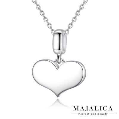 Majalica心意愛心項鍊925純銀墜銀色女鍊