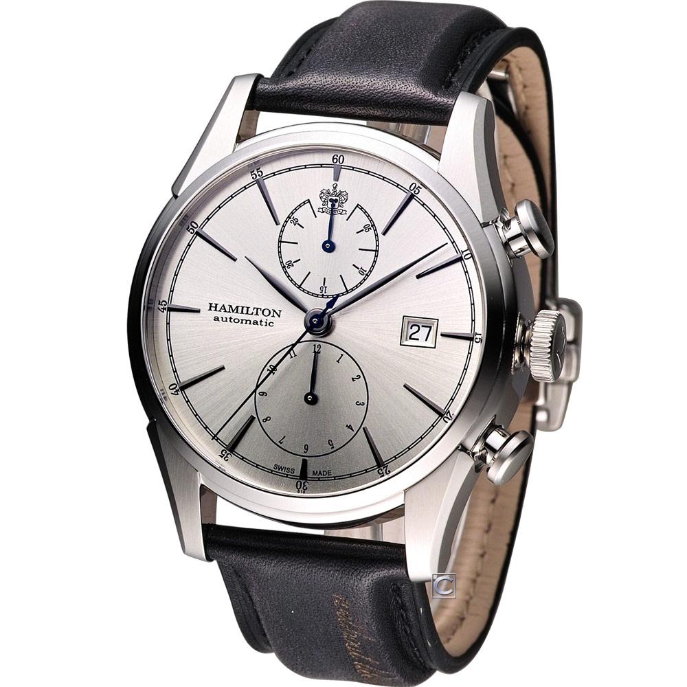 Hamilton Jazzmaster 新自由宣言計時機械腕錶-銀白/42mm
