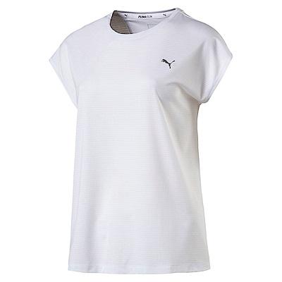 PUMA-女性慢跑系列OceanRun短袖T恤-白色-歐規