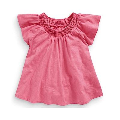 歐美春夏純棉兒童短T-粉色公主