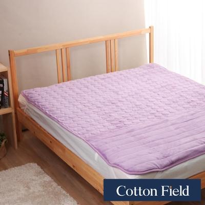 棉花田 暖心 超細纖維暖腳雙人保暖墊-粉紫色