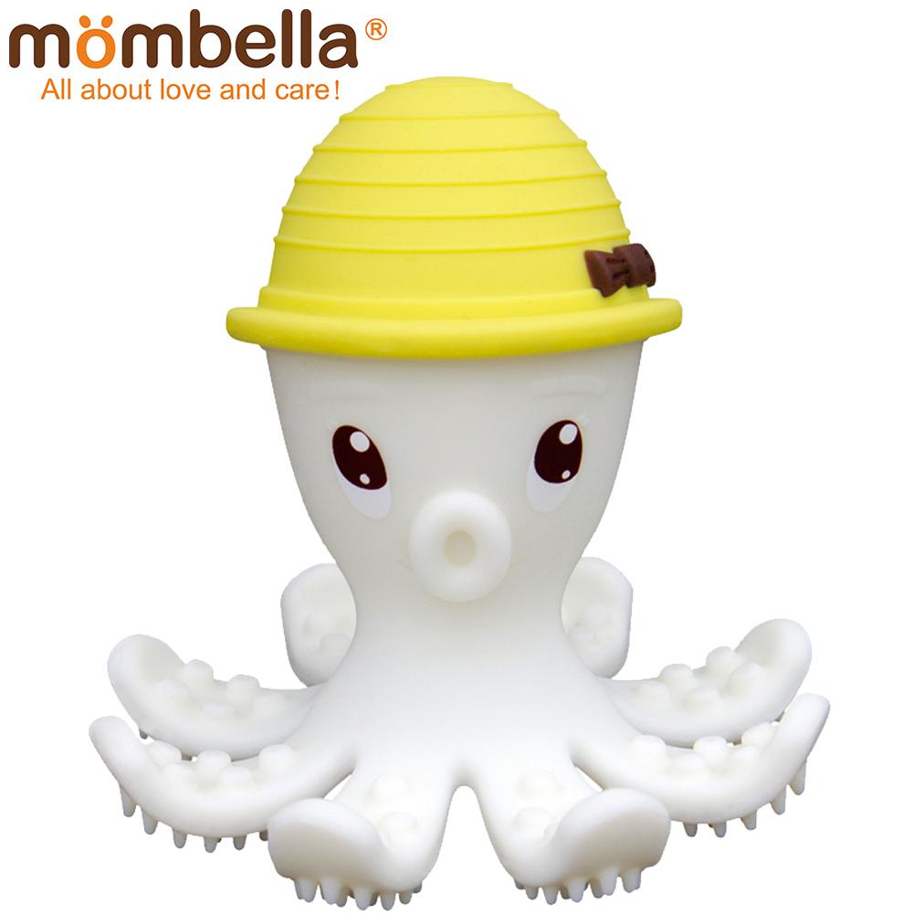 英國 Mombella 樂咬咬章魚固齒器 黃色