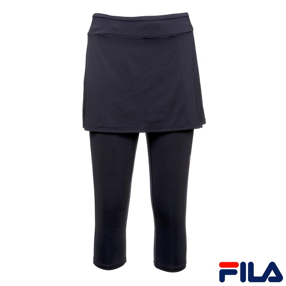 FILA女針織裙褲-黑5PNR-1613-BK
