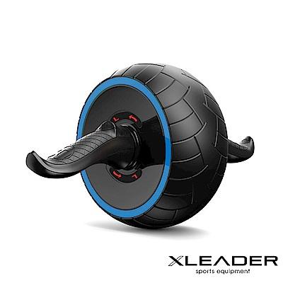 Leader X 自動回彈 耐磨迴力健腹輪 健腹器 滾輪 附跪墊 藍色 - 急