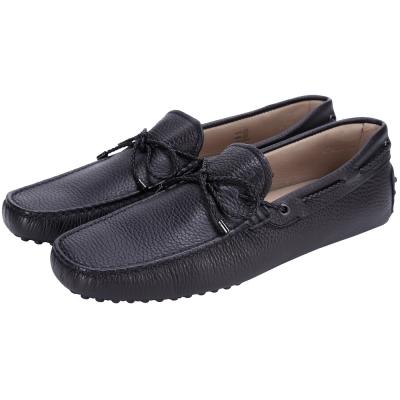 TOD'S Gommino Driving 編織綁帶豆豆休閒鞋(夜藍色)