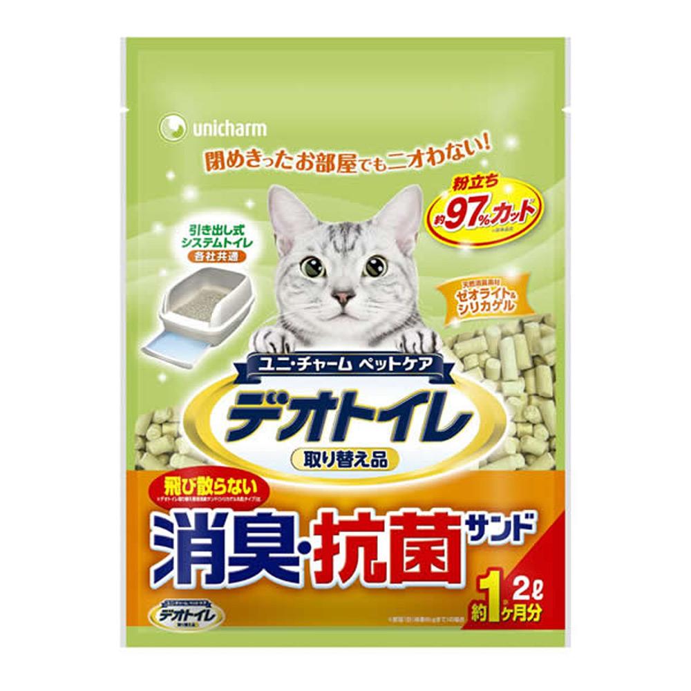 日本Unicharm消臭大師 一月間消臭抗菌沸石砂 2L x 4包入